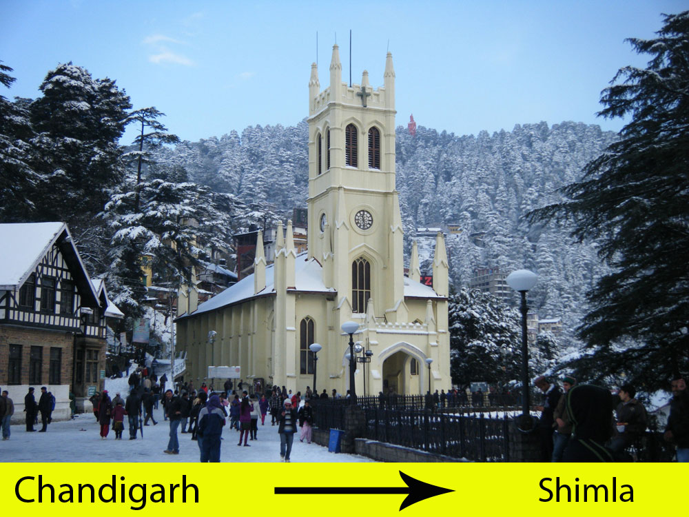 Chandigarh to Shimla Cab Service