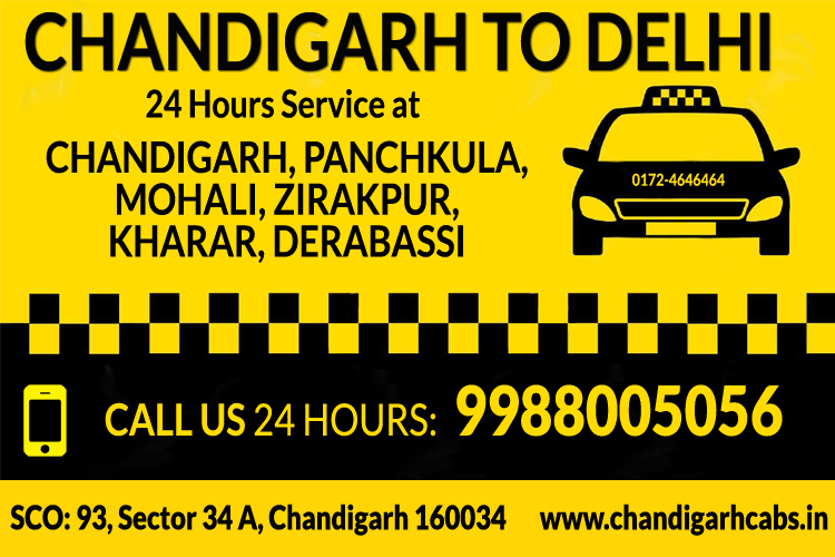 chandigarh to delhi one way taxi service