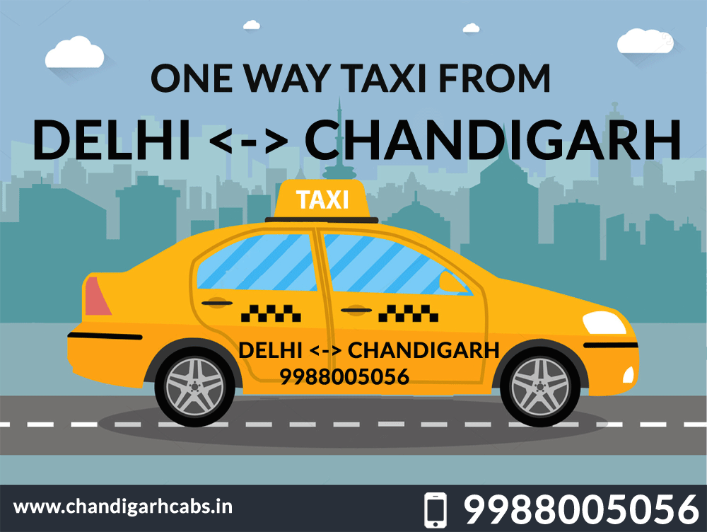 one way taxi from delhi to chandigarh