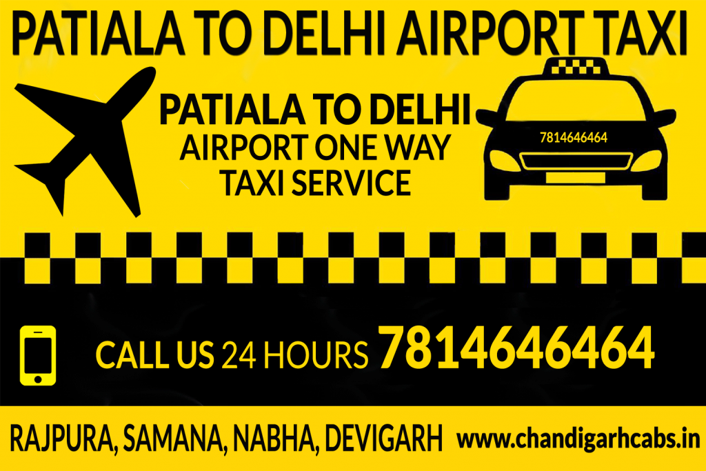 Delhi Airport To Patiala One Way Taxi Service
