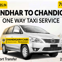 One way taxi from Jalandhar To Chandigarh
