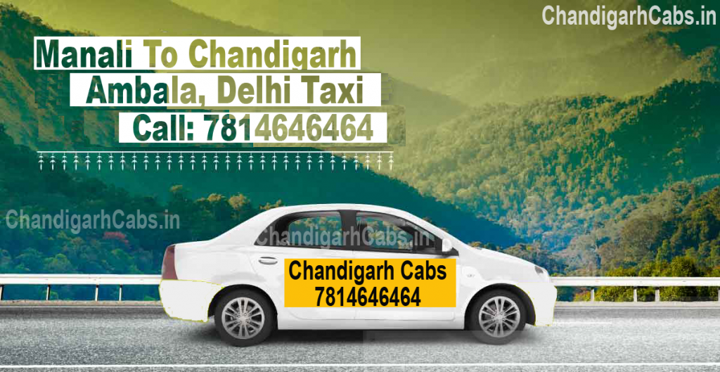 one way taxi from manali to chandigarh