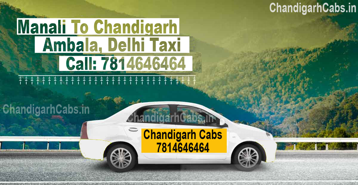 Manali To Chandigarh One Way Taxi